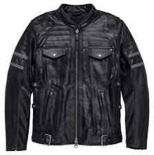 Harley Davidson Men Wick Twister TripleVent System Leather Jacket 98023-18VM M L
