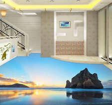 Rock Hill In Water 3D Floor Mural Photo Flooring Wallpaper Home Kids Wall Decal