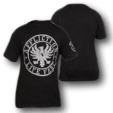 New Affliction FRAGMENT A7404 Men's Short Sleeve T-shirt Tee Black