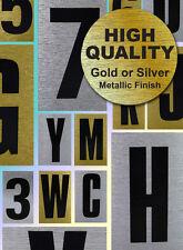 Oro / Plata Pequeño Autoadhesivo Cartas A-z Monogramas casa signo pegatina signos