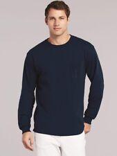 Gildan - Ultra Cotton Long Sleeve T-Shirt with a Pocket - 2410