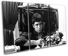 Scarface Al Pacino Movie Greats TREBLE CANVAS WALL ART Picture Print VA
