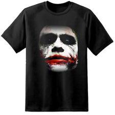 Heath Ledger Joker Batman Caballero de la noche cara escuadrón de suicidio (S - 3XL) Harley Quinn