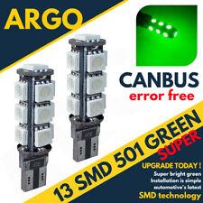 501 GREEN 13 LED T10 W5W CAR ERROR FREE CANBUS XENON SIDE LIGHT BULBS LAMP 12V