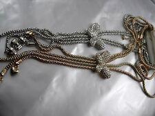 Edle glitzernde Kette mit Schmetterling (Papillon) Gold oder Silber TL 60-66cm