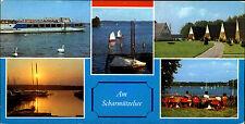 DDR Sonderformat Postkarte Region Fürstenwald AM SCHARMÜTZELSEE See Brandenburg