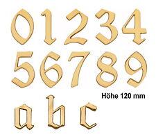 Hausnummer-Messing poliert-Höhe 120 mm-Schild-Zimmernummer-Nummer-Zahl