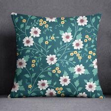 S4Sassy Floral imprimé décoratif vert coussin couverture Throw-PAR-SUB-SAS43J