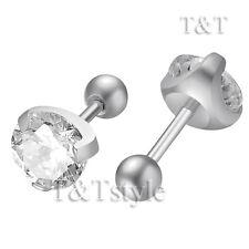T&T 7mm Plain S.Steel Fake Ear Plug Round Stud Earrings body Piercing BE34S(7)