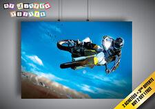 Poster Moto Cross Sport Extrem Mural Wall Art