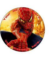 "Spiderman 7.5"" Round Personalised Birthday Cake Topper"