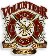 "Bumper Window 3M Reflective Sticker Decal Volunteer Fire Dept NEW choose 2""4""6"""