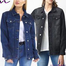 NEW Womens Denim PARKER Coat Jacket Ladies Jean Parka Blue Size 8-24 PLUS SIZE B