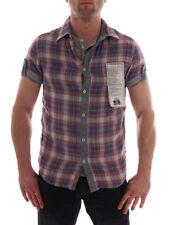 Freesoul Hemd Tank weiß Kurzarmhemd Doppelshirt grau bunt kariert