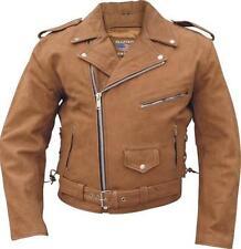 Buff Nubuck Biker Brown Buffalo Leather Motorcycle Jacket Allstate 2015 Sizes