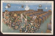 Postcard Long Beach Ca Belmont Restaurant 1930's