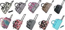"Women's Fashion Print 21"" Rolling Duffel Bag Suitcase Garment Carry-on Duffel"