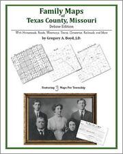 Family Maps Texas County Missouri Genealogy MO Plat