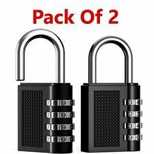 2x Weatherproof Security Padlock Outdoor Heavy Duty 4-Digit Combination Lock UK