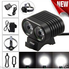 8000LM 2x CREE XM-L2 LED Stirnlampe Cycling Front Fahrrad Headlight Headlamp Set