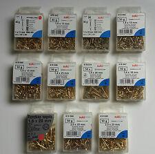 Nägel Rundkopf vermessingt 1,0 x 11mm - 2,0 x 25mm Suki/Schneider Blister Neu