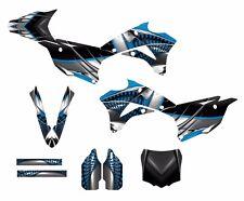 KX85 KX100 graphics kit 2014 2015 2016 Kawasaki Free Custom Service #7777 Blue