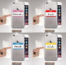 Cover per,Iphone,TRASPARENTE,silicone,morbido,PERSONALIZZATO,NOME,STICKERS
