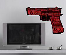 Pulp Fiction Vengeance Quote Bumper Sticker Wall Art Car Ezekiel 25:17 Gun