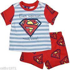 NEW Licensed Baby Boy/Infants Superman Summer Pyjamas/Pjs - Sizes 00,0,1 & 2