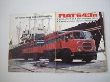 advertising Pubblicità 1963 AUTOCARRO FIAT 643 N