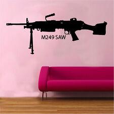Scie m249 assualt MACHINEGUN decal autocollant mural vinyle armée guerre