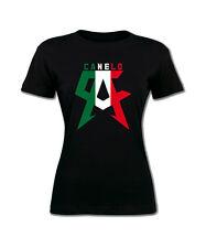 CANELO Women's T-shirt. Saul Alvarez Boxing Champion Mexico flag shirt. S-2XL.