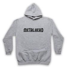 METALHEAD HEAVY METAL SLOGAN ROCK MUSIC HARDCORE ROCKER ADULTS KIDS HOODIE