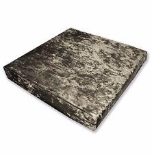 Mv09t Dark Bronze Diamond Crushed Velvet 3D Box Seat Cushion Cover Custom size