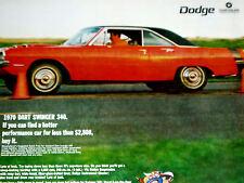 1970 DODGE DART SWINGER 340 PRINT AD-poster/picture/photo/garage art/sign-1969