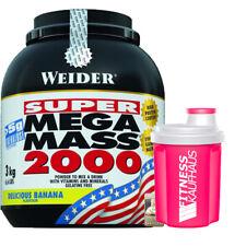Weider Mega Mass 2000 - 3000g Gainer Geschmack wählbar + Ladyline Shaker