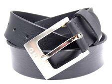 Hombres Premium Alta Calidad Negro Original Cinturón de cuero Diseñado Milano