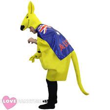 KANGAROO COSTUME WITH AUSTRALIAN FLAG CAPE AUSTRALIA DAY RUGBY FANCY DRESS