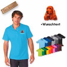Poloshirt Polo Shirt bestickt Stickerei Hund Baumwolle Cocker Spaniel 2 + Name