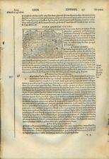 TUNISIA- UTICA.Incisione originale.Da Foresti,anno 1535