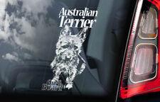 Australian Terrier on Board - Car Window Sticker - Aussie Dog Sign Decal - V01