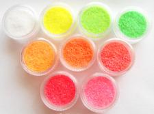 Nail Art NEON GLITTER , irisierend Glitter, leuchtet im UV Licht, in Döschen NEU
