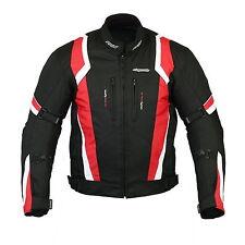 RKSports MENS 1509 RED TEXTILE MOTORBIKE MOTORCYCLE JACKET 2015 NEW