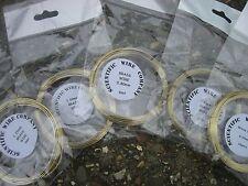 BRASS Wire Non Tarnish & Nickel Free - FULL DIAMETER RANGE
