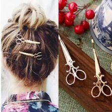 2 x Pcs Scissors Shape Hair Clip Silver / Gold  Hair Pin Women Accessory UK