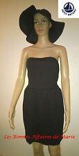 PETIT BATEAU - PROMO -60% - Robe bustier noire - Neuve avec étiquette