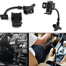 Dual USB Port Cigarette Lighter Socket Car Mount Charger Holder For iPhone 6S