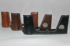Half Leather Case Bag for Fujifilm X-Pro3 camera XPro3, black brown or coffee