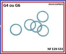 Lot de deux joints gaz DN20 (G4) ou DN32 (G6) Norme Française Agrée GDF