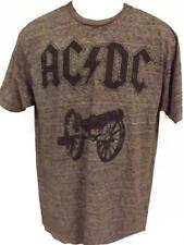 NEW AC/DC Mens Adult Sizes S-M-L-XL Gray Soft Concert T-Shirt